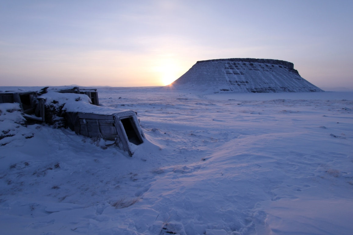 Sod Igloo at the base of Mt. Dundas (Umanaq)