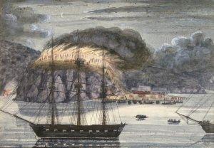 North Star destroying Pomare's Pā, 1845